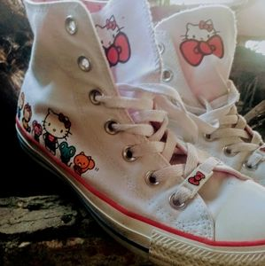 SANRIO Hello Kitty Converse Sz 8 Ltd Ed CUTE